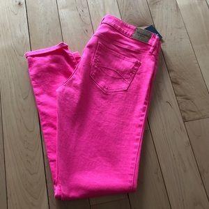 Abercrombie Straight Leg Pink Jeans